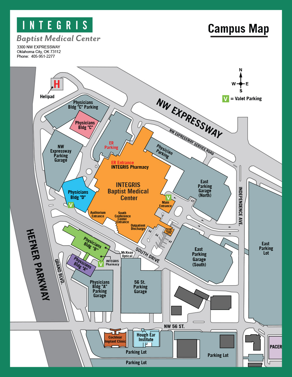 INTEGRIS Baptist Medical Center Campus Map